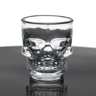 50ml premium hot sale popular tequila brandy whiskey skull shot glass