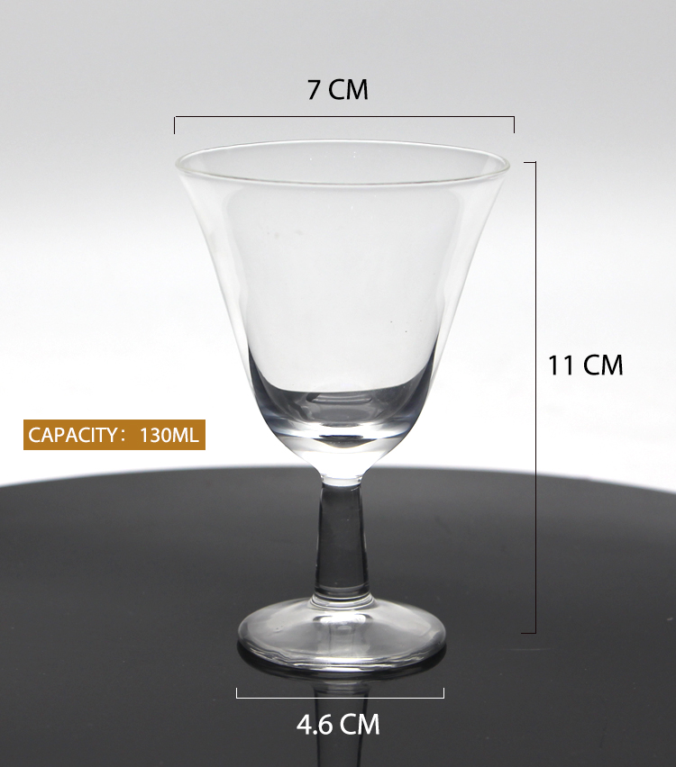 Heat-resistant Glass Tea Cup High Borosilicate and High Foot Glass Teacup Art Teacup